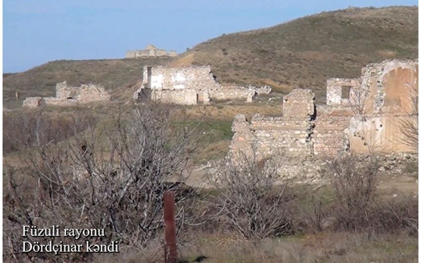 Video footage from Dordchinar village of Fuzuli region