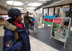 Protest action held in Stockholm in regards with Armenia's refusal to provide mine maps