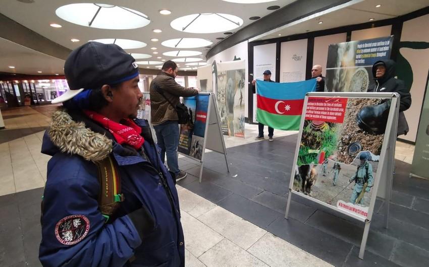 Stokholmda Ermənistanın mina xəritələrini verməməsinə etiraz olaraq aksiya keçirilib - FOTO