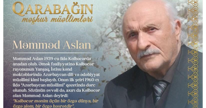 Qarabağın məşhur müəllimləri - Məmməd Aslan