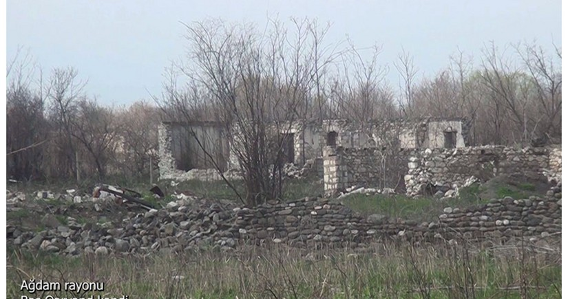 Ağdamın Baş Qərvənd kəndinin görüntüləri