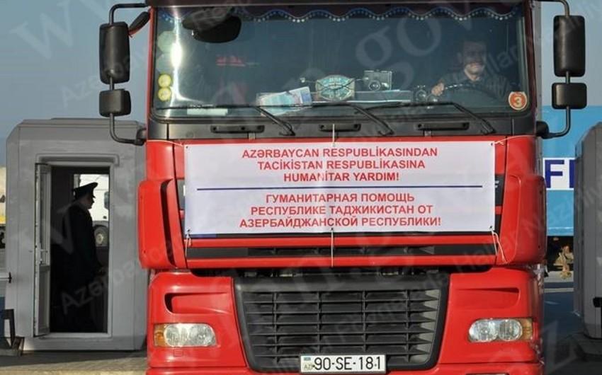Azərbaycanın Tacikistana göndərdiyi yardım ünvana çatdırılıb