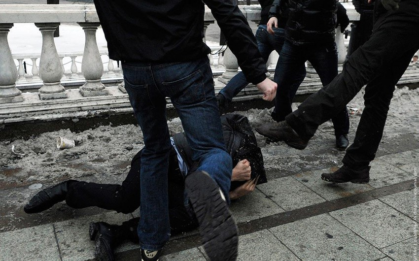 Group of Armenians in Ukraine beat Azerbaijani man almost to death over Karabakh