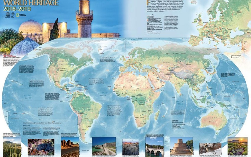 World Heritage Map published with the support of Azerbaijan