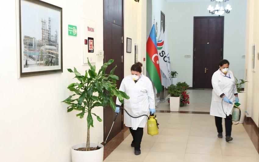 BANM koronavirus əleyhinə dezinfeksiya edildi