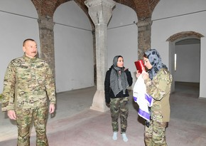 Mehriban Aliyeva brings Holy Quran to Yukhari Govhar Agha Mosque