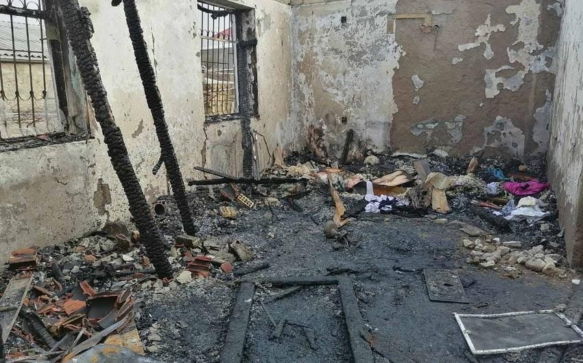 Bakıda evin talandıqdan sonra yandırılması ilə bağlı cinayət işi başlanılıb
