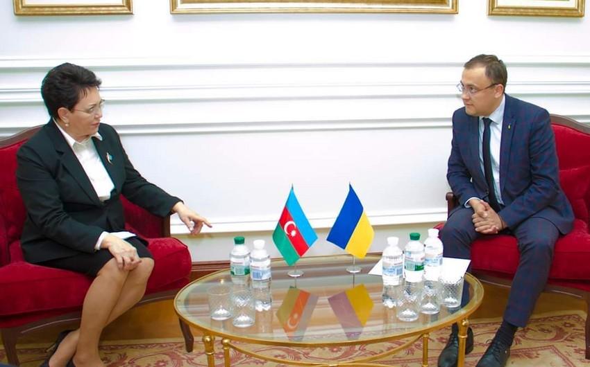 Elmira Axundova etimadnaməsinin surətini Ukrayna XİN başçısının müavininə təqdim etdi