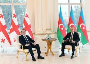Президент Ильхам Алиев встретился с премьер-министром Грузии