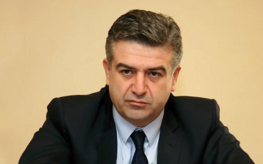 Ermənistanda Karen Karapetyan baş nazir postundan kənarlaşdırıla bilər