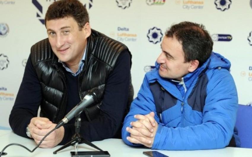 Gürcüstan Futbol Federasiyasının rəsmiləri Bakıda Kaxaber Tsxadadze ilə danışıqlar aparıb