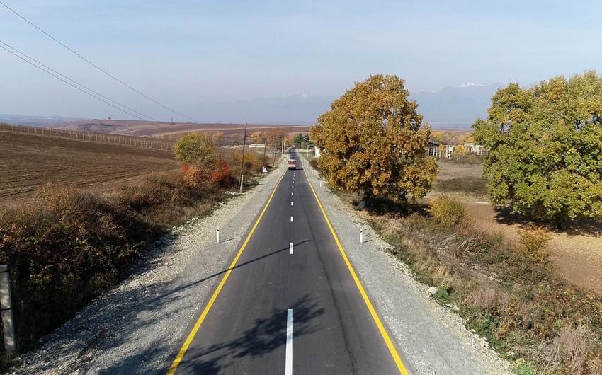 İsmayıllı rayonunda uzunluğu 15 km olan 2 yol layihəsinin icrası yekunlaşıb