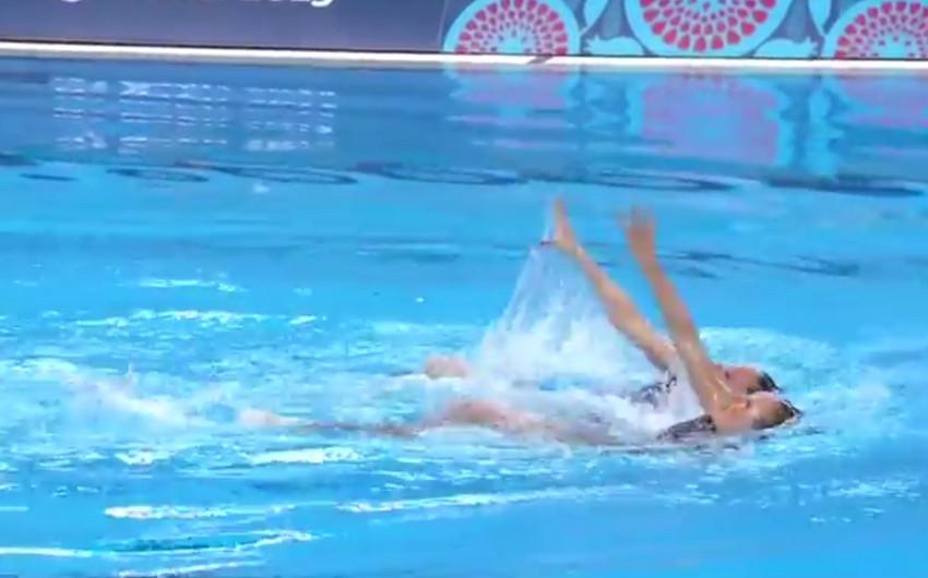 Sinxron üzgüçülükdə duet yarışlarının final mərhələsi keçirilir - CANLI YAYIM