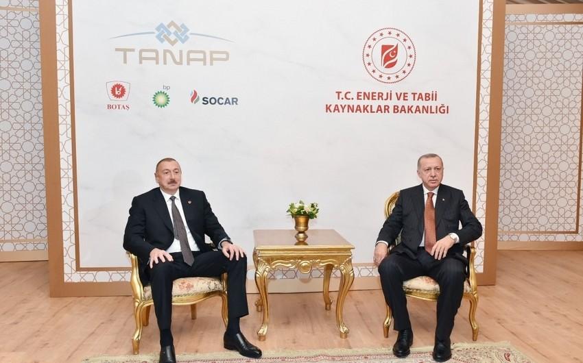Azərbaycan Prezidenti İlham Əliyev Türkiyə Prezidenti Rəcəb Tayyib Ərdoğanla görüşüb - FOTO