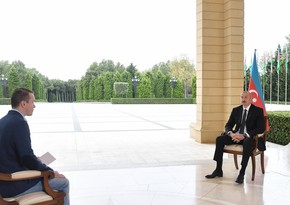 President Ilham Aliyev gives interview to Russian Perviy Kanal TV