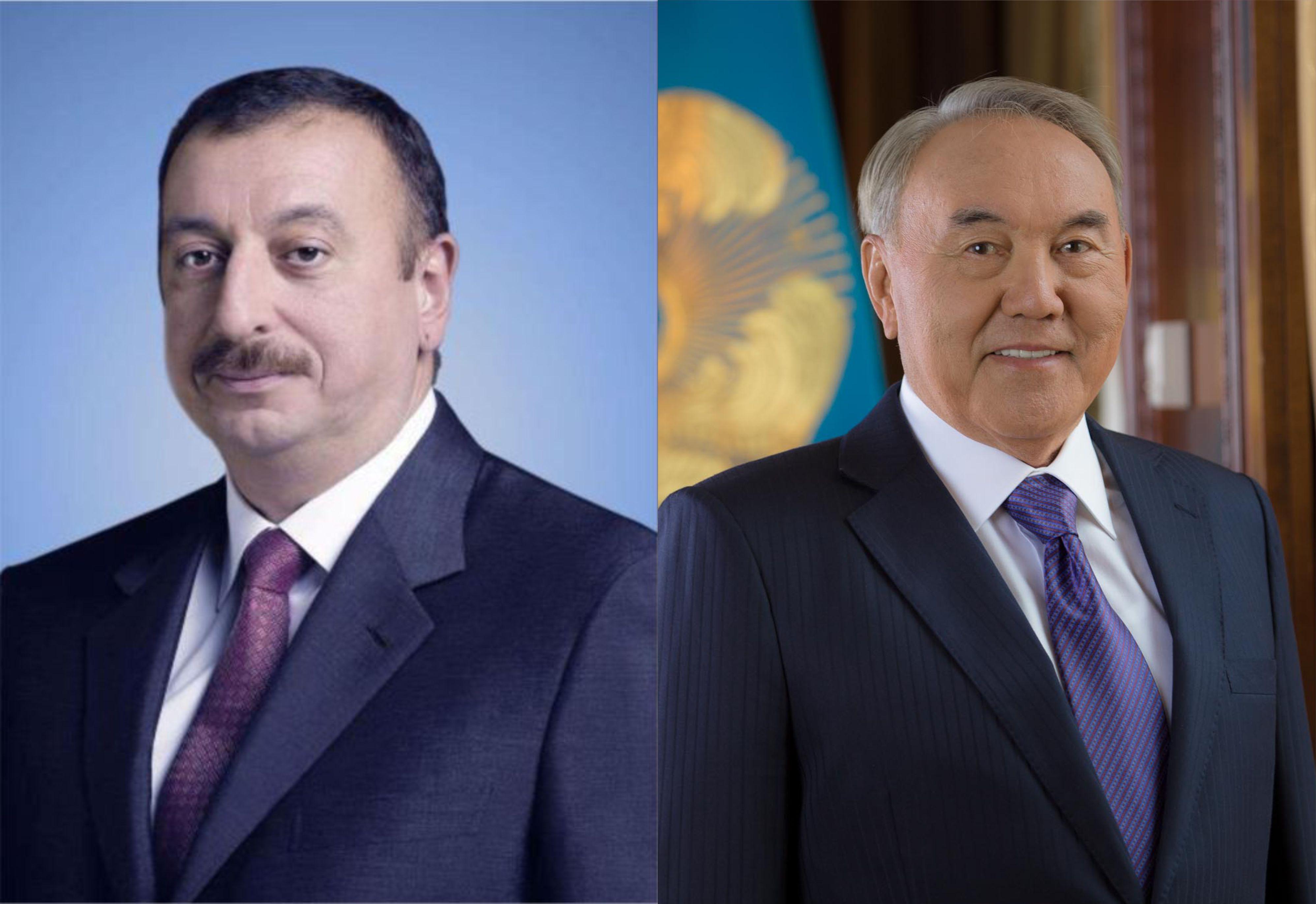 Nursultan Nazarbayev Azərbaycan Prezidentinə təbrik məktubu ünvanlayıb