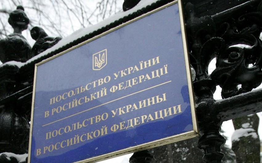 Ukraynanın Rusiyadakı səfirliyinin əməkdaşı persona non qrata elan edilib