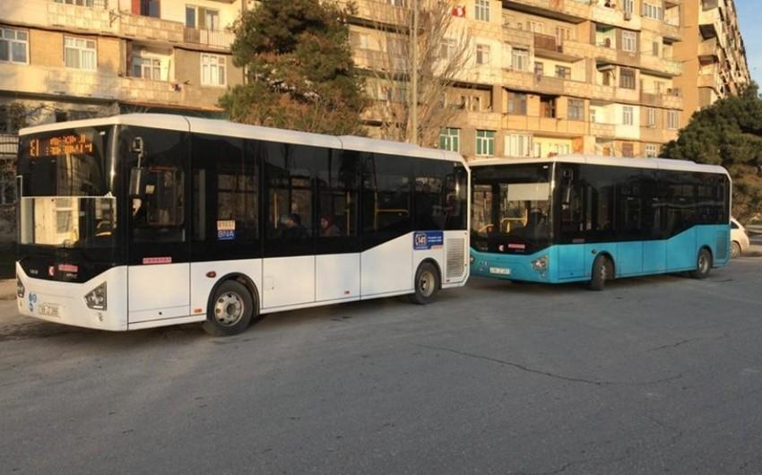 Bakıda iki müntəzəm marşrut xətti üzrə avtobusların hərəkət sxemində dəyişiklik edilib