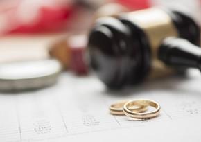 В Азербайджане за 4 месяца этого года зарегистрировано 4 287 разводов