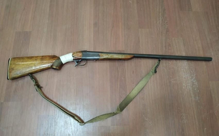 Bakı sakini Şabranda silah-sursatla saxlanıldı