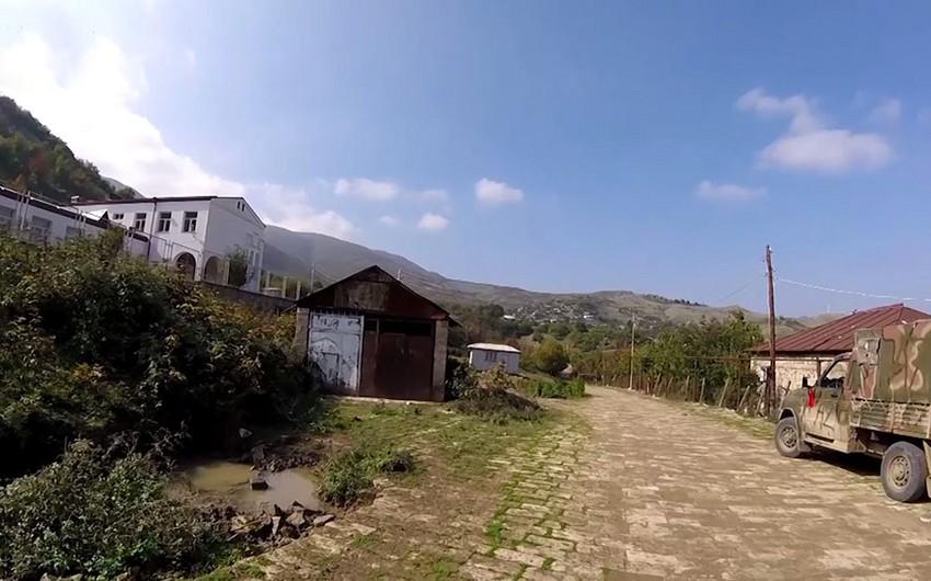 Xocavənd rayonunun işğaldan azad olan kəndlərinin videogörüntüsü