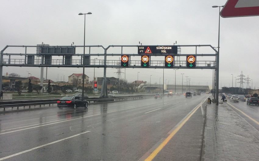 Speed limit in two highways of Baku reduced