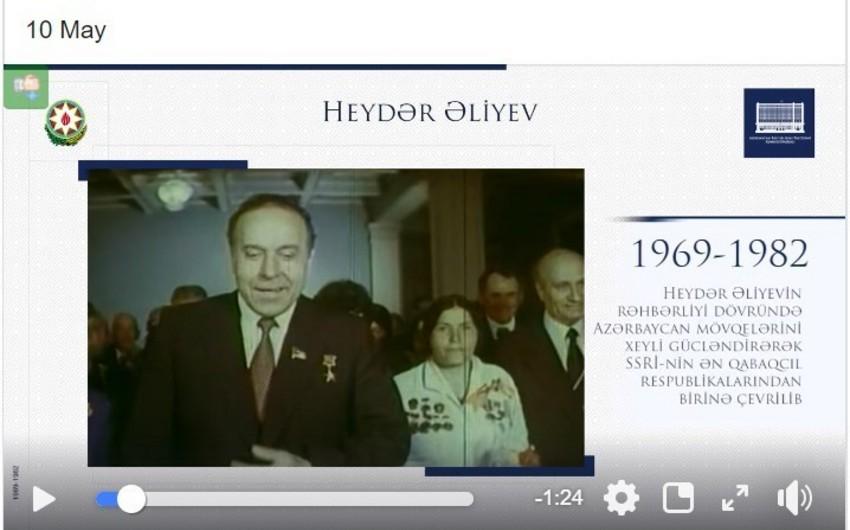 Президент поделился в Facebook видеороликом, посвященным 96-летию Гейдара Алиева