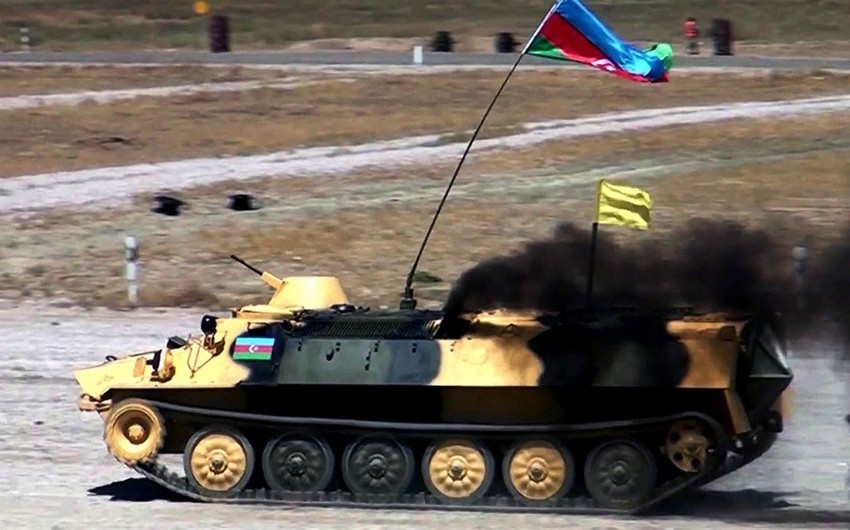 The first line-up of the Azerbaijani team attain success in the contest Masters of artillery fire