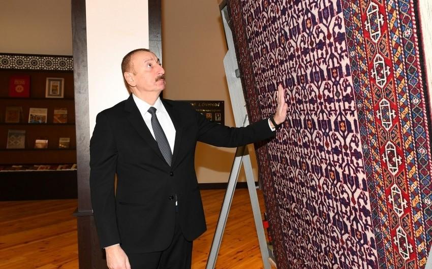 President Ilham Aliyev visits Tovuz branch of Azerkhalcha OJSC