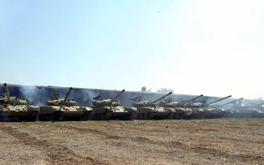 Tank units of Azerbaijani Army fulfill assigned tasks