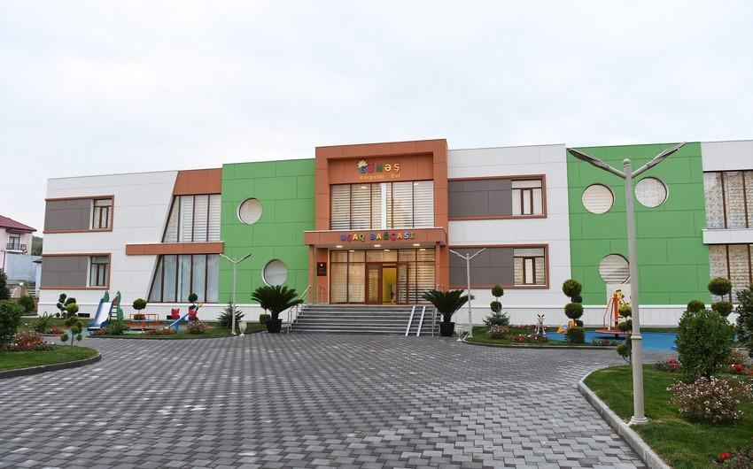 """Azərbaycan Prezidenti və birinci xanım Qubada """"Günəş"""" körpələr evi-uşaq bağçasının açılışında iştirak ediblər"""