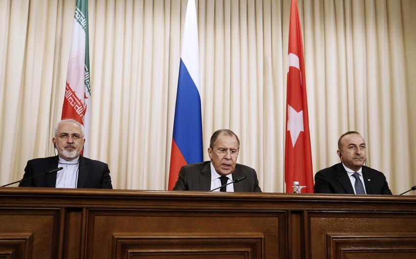 В Астане началась встреча глав МИД России, Ирана и Турции по Сирии