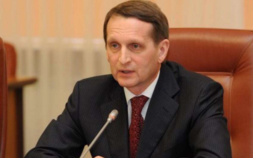 Rusiya Dövlət Dumasının sədri AŞPA-nın monitorinq prosedurunun ləğvini təklif edib