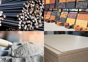 Цены на рынке строительных материалов в Азербайджане
