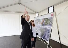 Президент ознакомился с предстоящей работой в новом лесопарке в Ясамальском районе- ОБНОВЛЕНО