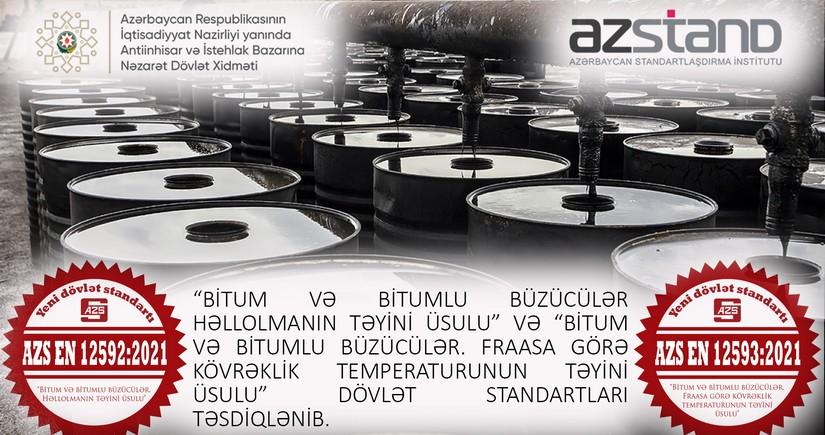 Azərbaycanda bitum məhsullarına dair dövlət standartları təsdiq edilib