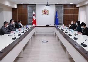 Azərbaycan səfiri Gürcüstanın dövlət naziri ilə görüşüb