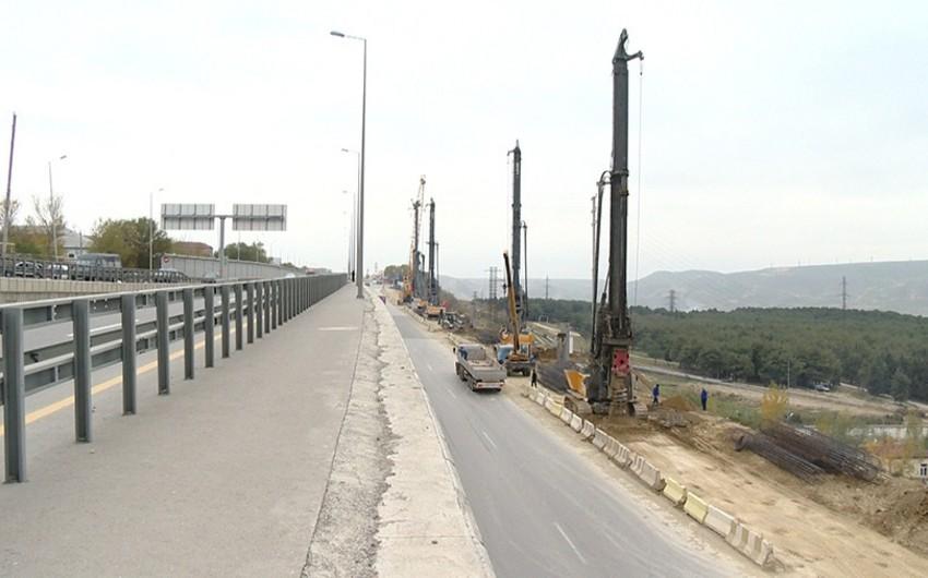 Avtovağzal dairəsindən Bakı Dairəvi-1 avtomobil yoluna yeni çıxış yolu tikilir