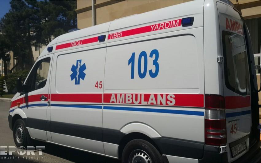 Bakıda mikroavtobus yük avtomobili ilə toqquşub, 6 nəfər yaralanıb