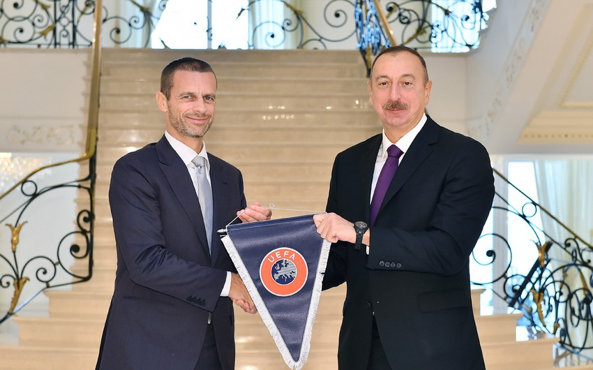 UEFA prezidenti: İlham Əliyevin prezidentliyinin yeni dönəmində Bakıda dünya miqyaslı iki futbol tədbiri keçiriləcək