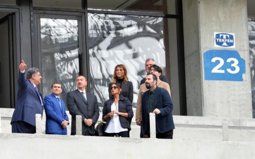 Azərbaycan prezidenti Bakı Olimpiya Stadionunda  tikinti işlərinin gedişi ilə tanış olub