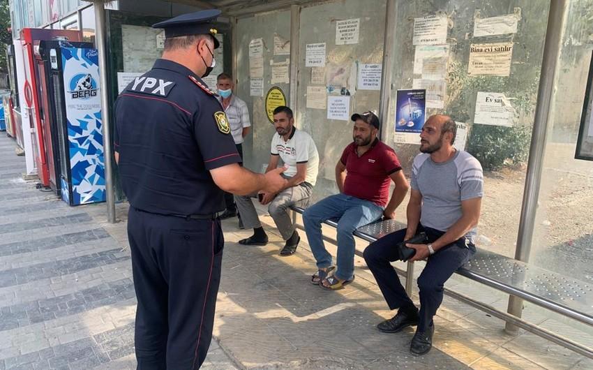 Polis Siyəzəndə reyd keçirdi: maska taxmayanlar cərimələndi