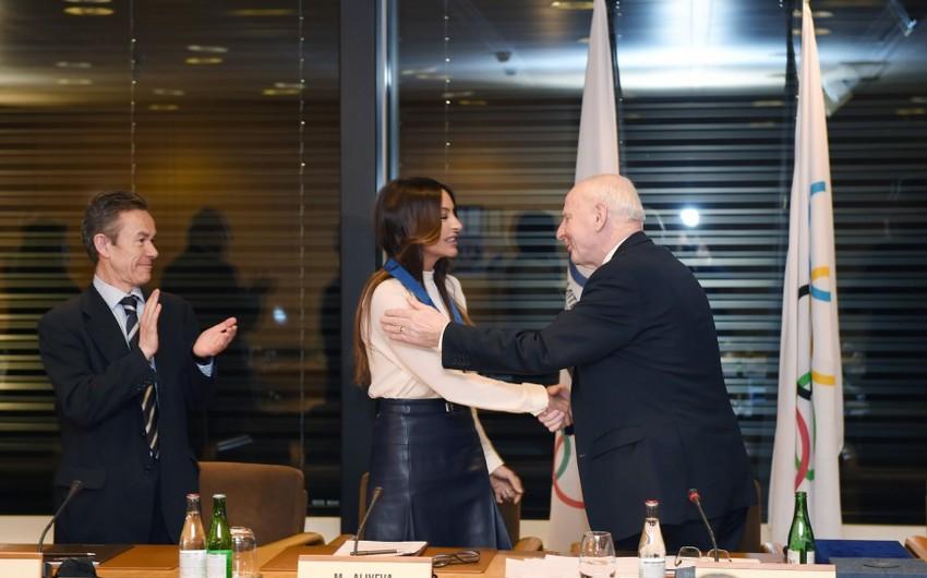 Mehriban Əliyeva Avropa Olimpiya Komitələrinin Ali Ordeni ilə mükafatlandırılıb