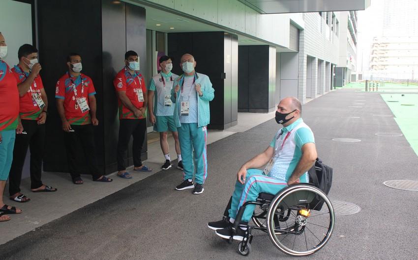 Tokio-2020: İlqar Rəhimov atletlər kəndində idmançılarla görüşüb