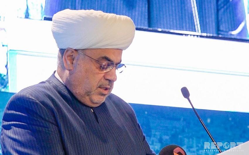 Аллахшукюр Пашазаде: Мы призываем всех мусульман сплотиться во имя решения карабахского конфликта