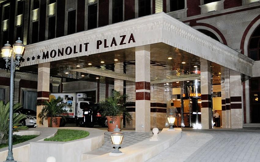 """""""Monolit plaza"""" otelində yanğın olub"""
