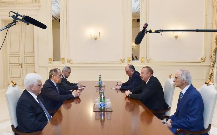 Prezident İlham Əliyev Rusiyanın xarici işlər nazirini qəbul edib - ƏLAVƏ OLUNUB