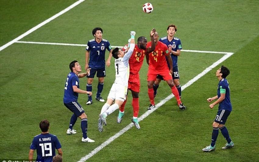 DÇ-2018: Belçika yığması Yaponiyanı məğlub edərək 1/4 finala çıxıb