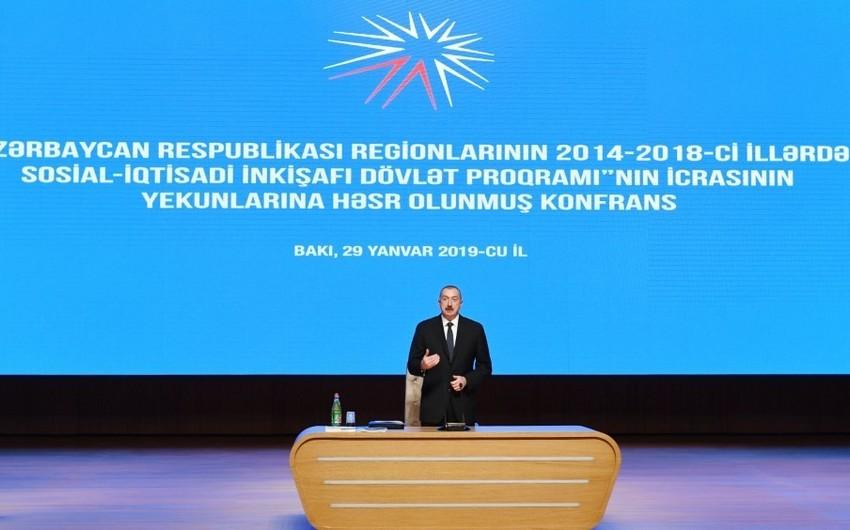 İlham Əliyev: Azərbaycan son 15 il ərzində çox uğurla, inamla inkişaf edib
