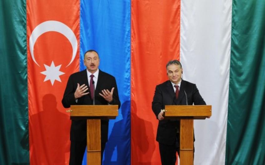 Azərbaycan prezidenti və Macarıstanın baş naziri birgə bəyanatla çıxış ediblər